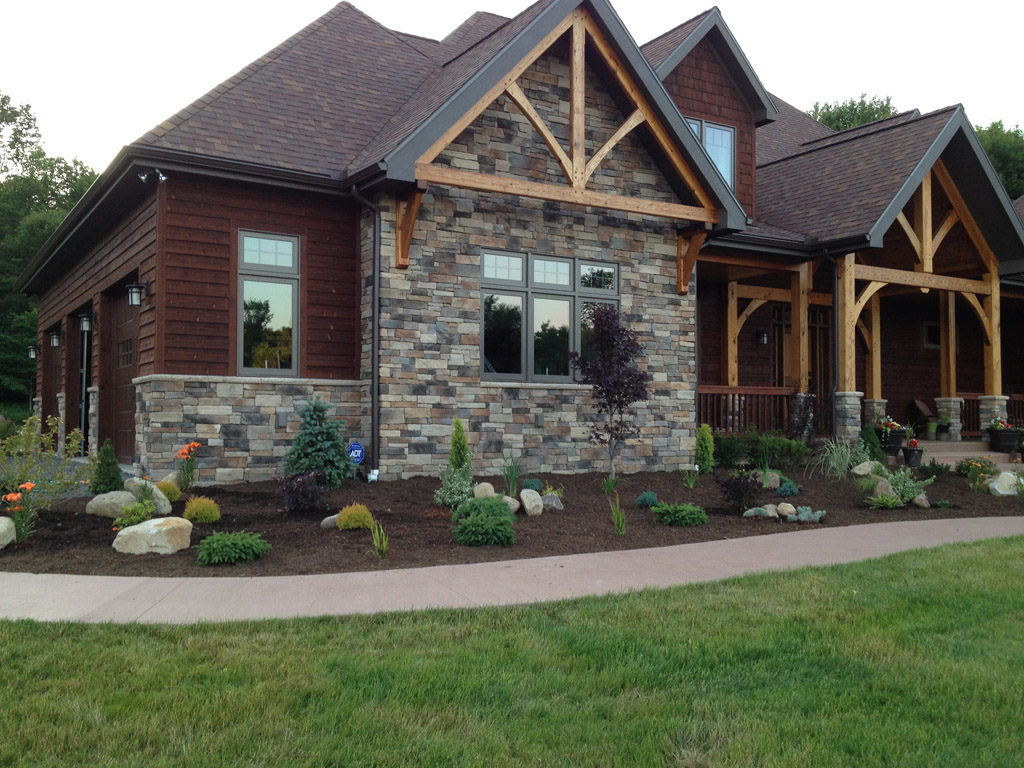 Timber Frame and Stone Home