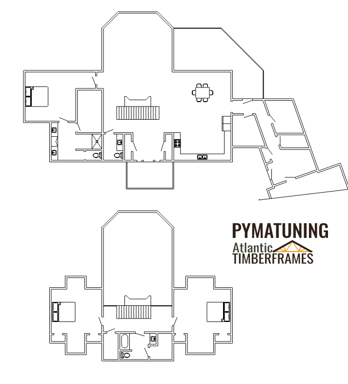 Pymatuning timber frame floor plan
