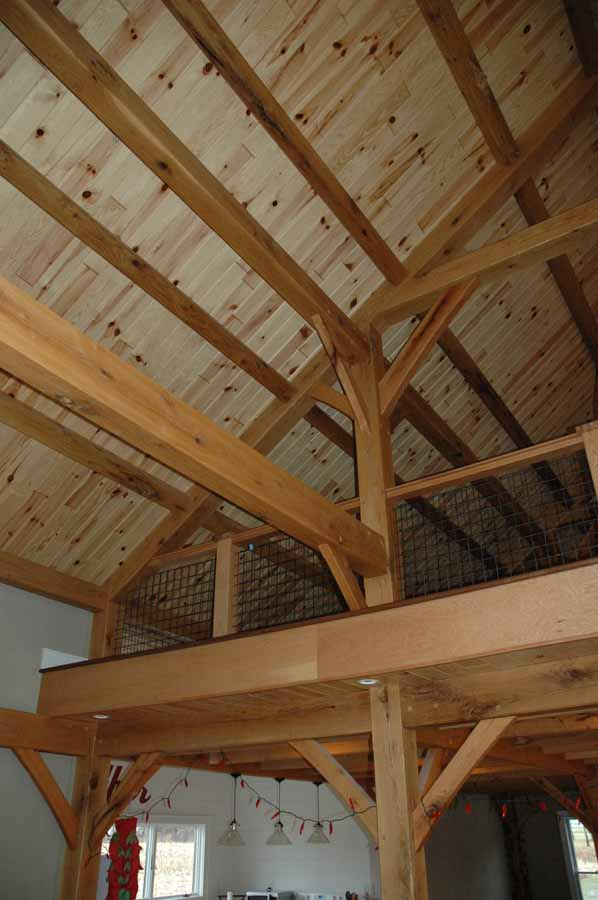 Timber Frame Barn Interior