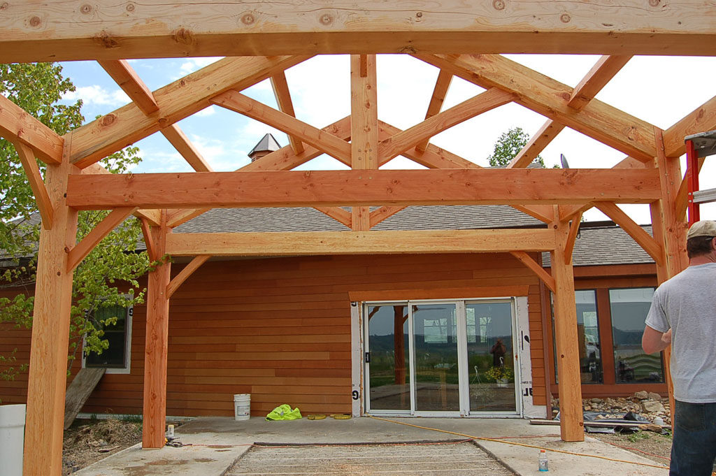 Timber Frame Addtion for Home