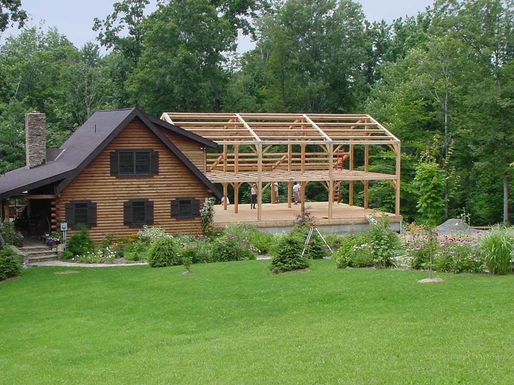 Timber Frame Addition to Cabin