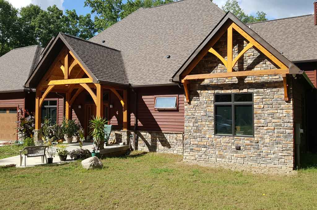 Adding timber frame elements to your current home