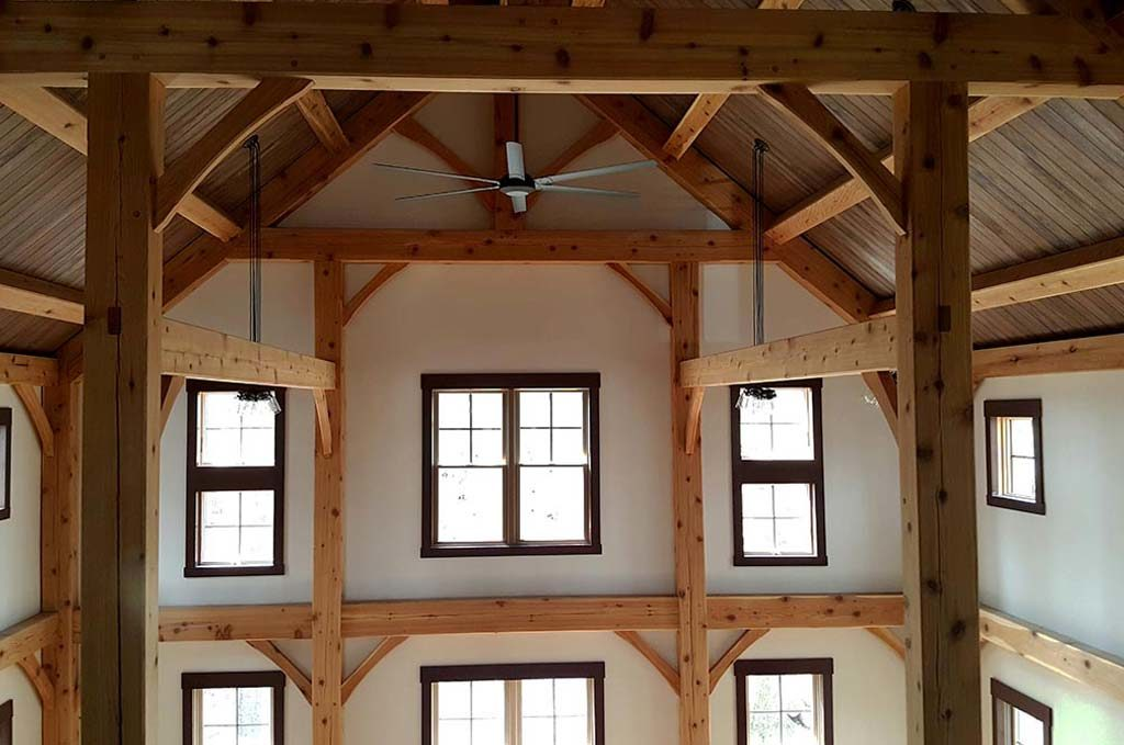 Unique features of a timber frame home