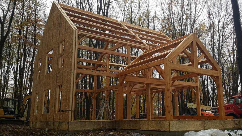 coolspring timber frame plan raising
