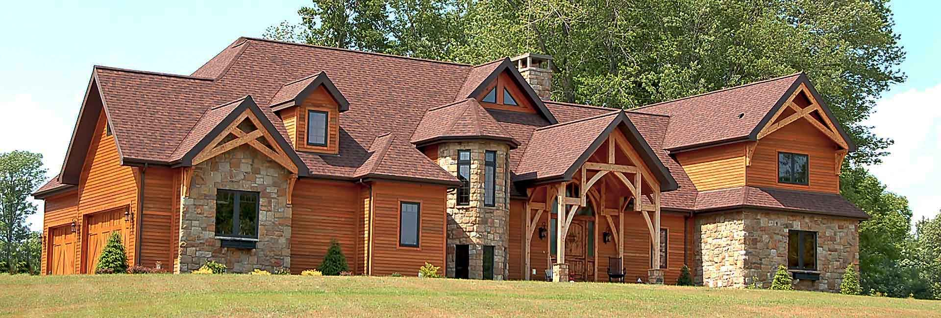 custom timber frame home builder