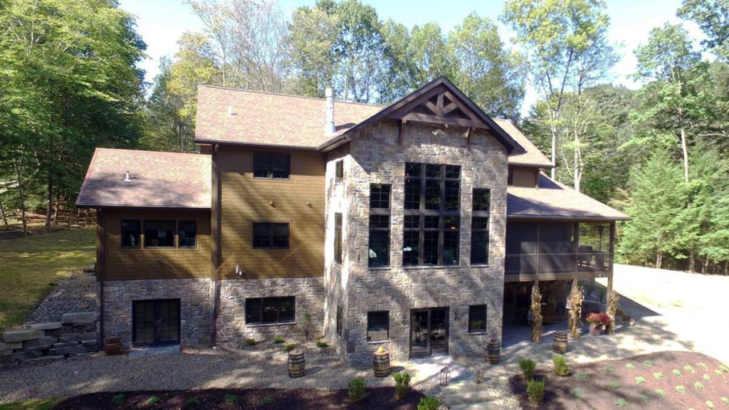 Mt Jackson timber frame home floor plan
